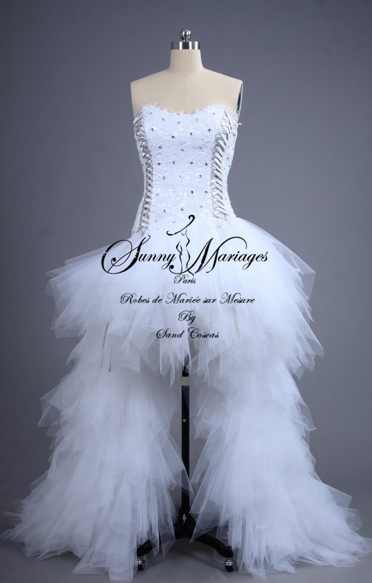 79acd7ffb41 Robe de mariée - sur mesure - courte et longue
