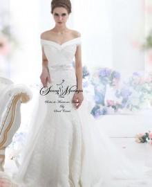 robe de mariée-sirène-fourreau-dentelle