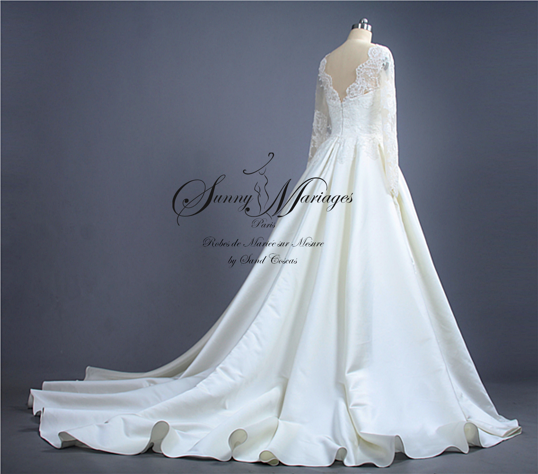 Robe De Mariee Princesse Manches Longues Sunny Mariage