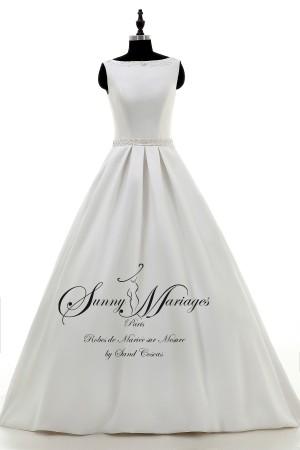 robe de mariée, robe de mariée satin, robe de mariée princesse