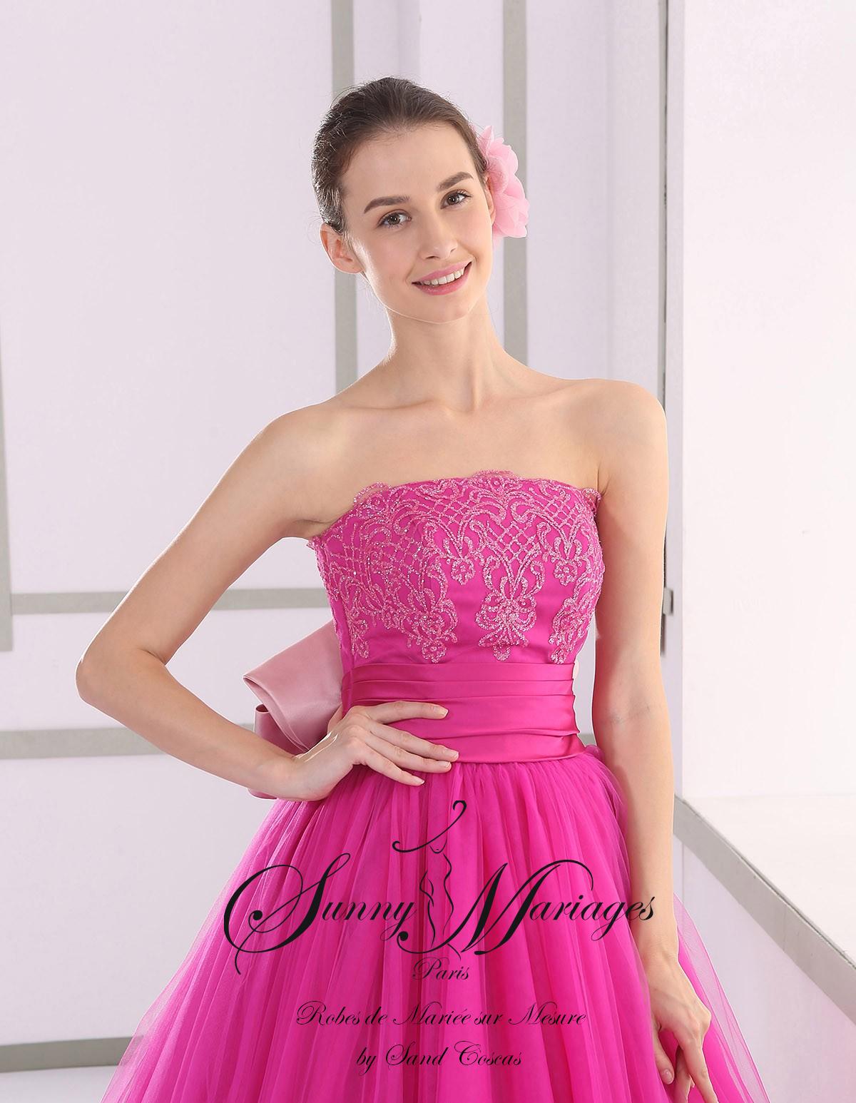 1a9591fa454 Robe de mariée princesse couleur