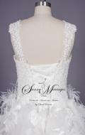 robe de mariée, robe de mariée dentelle, robe de mariée plume