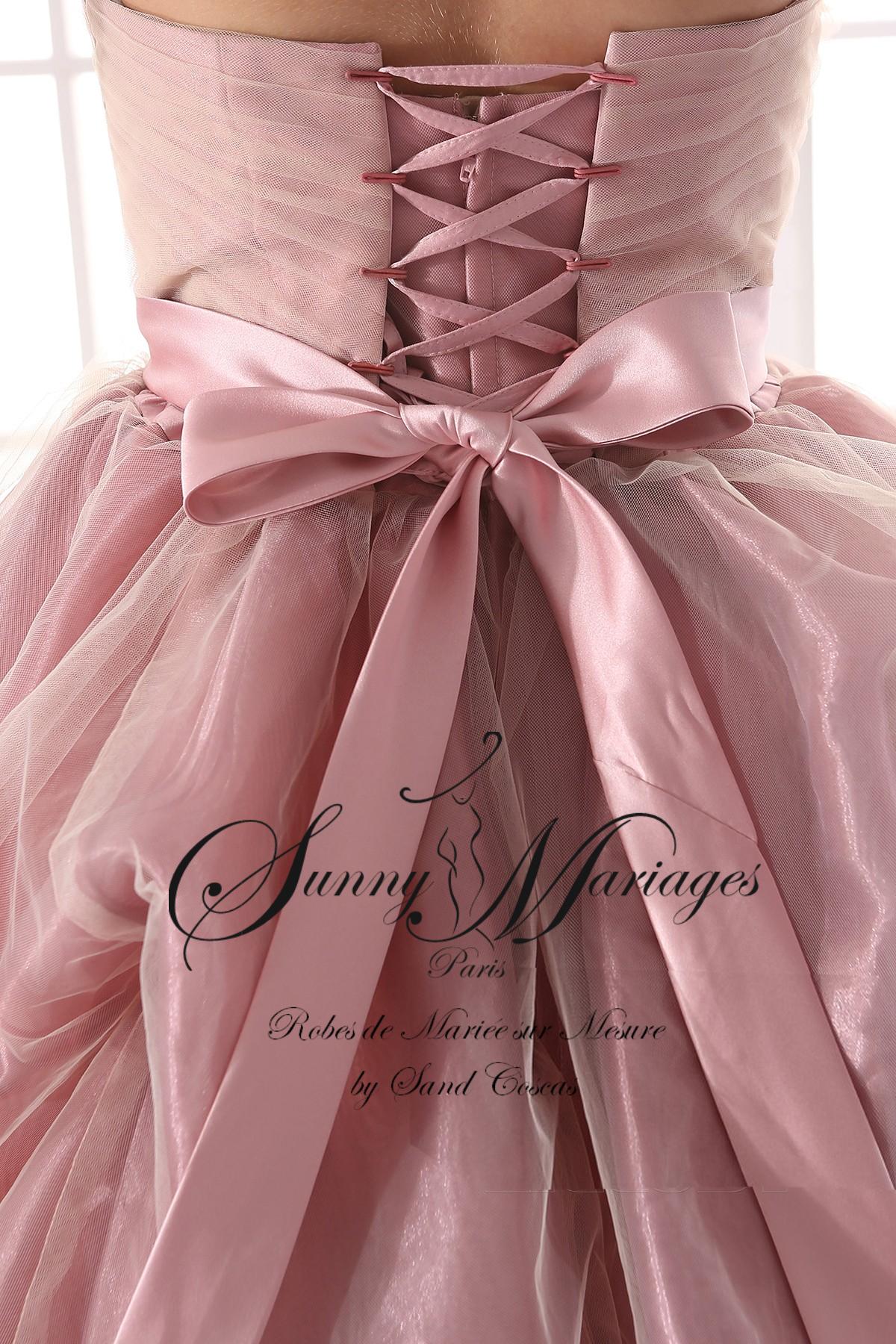 Robe De Mariée Princesse Couleur Rose Poudré Sunny Mariage