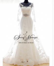 robe de mariée dentelle manche longue