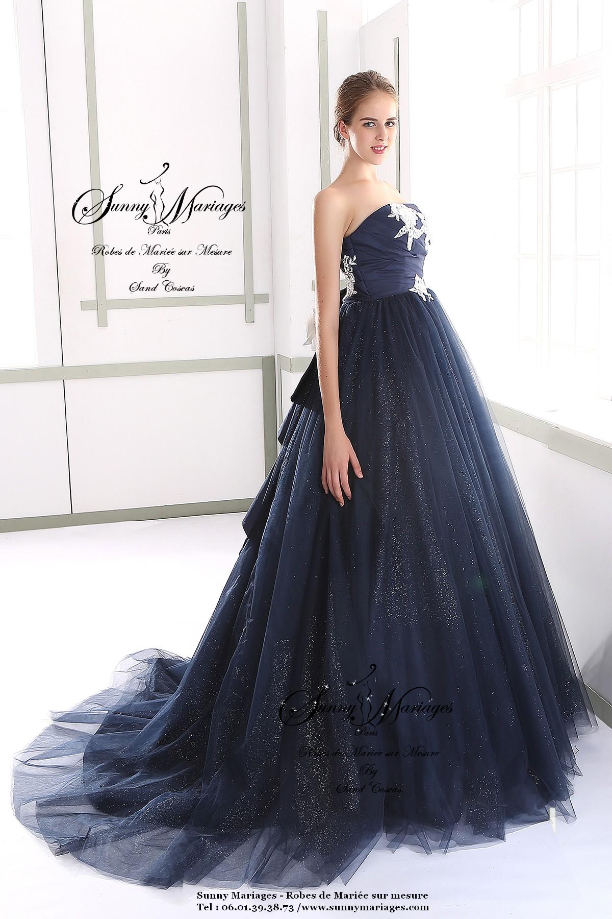 De Princesse MesureSunny Mariage Sur Robe Noire Mariée b7yIfmY6gv