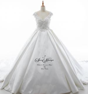 robe de mariée bustier brodé