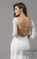 robe de mariée dentelle manches longue